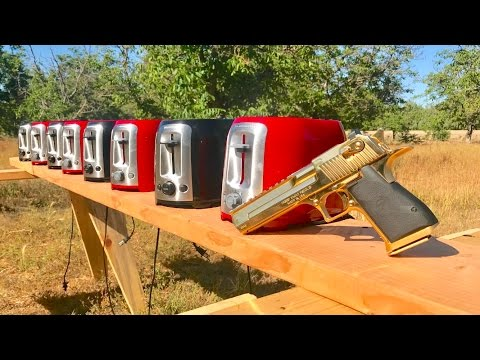 how many toasters does it take to stop a desert eagle 50ae?