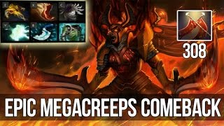 epic megacreeps comeback   308 dmg legion commander live gameplay   как поднимать ммр 5   dota 2