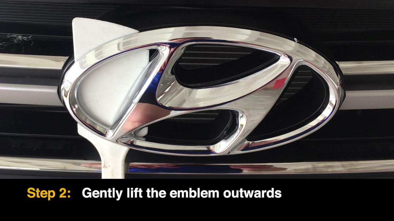 2017 Hyundai Tucson Front Emblem Removal