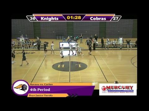 Lake Havasu High School vs Cactus High School Junior Varsity Boys Basketball 1/10/19