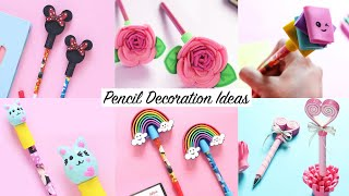 6 Easy DIY Pen & Pencil Decorations | Back to School Supplies | Craft Compilation