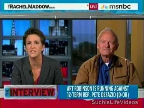 (R-OR) Art Robinson Throws Hissy Fit On Rachel Maddow!!! - Pt. Two