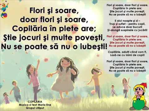 COPILĂRIA – Cantece pentru copii in limba romana
