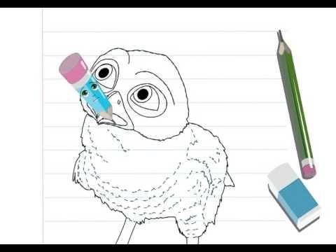 Dessiner une chouette hellokids youtube - Chouette a dessiner ...