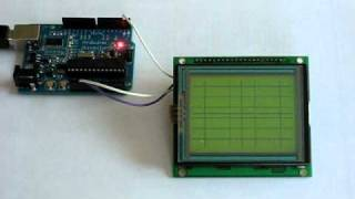 JP Serial GLCD 128x64 Module Arduino Test Video
