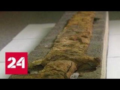 Клинок X века и Бородинский клад: археологи реставрируют сокровища Древней Руси - Россия 24