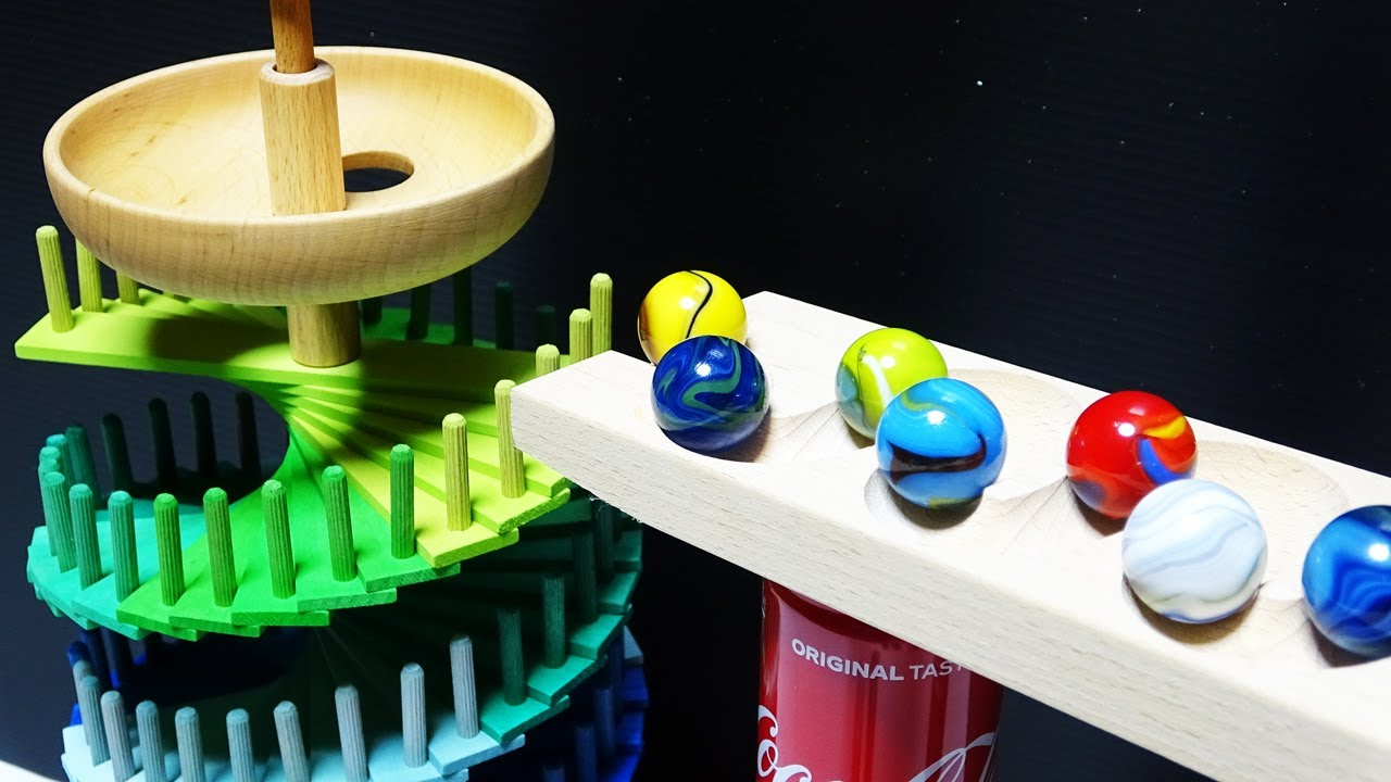 Download Marble Run Race ASMR ☆ Grimm's Spiel & Holz Design (Grimm's) Assembled Marble Tower