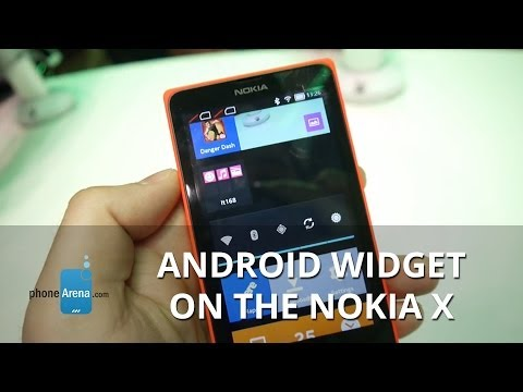 Android widget on the Nokia X