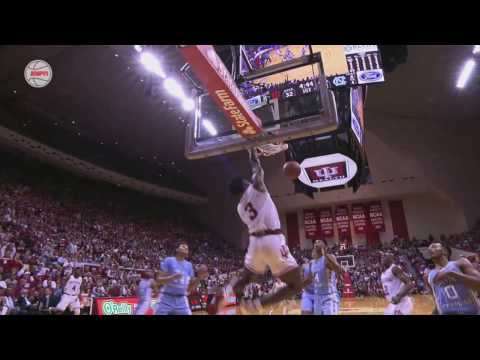 Indiana Basketball OG Anunoby Huge Alley-Oop Dunk On North Carolina