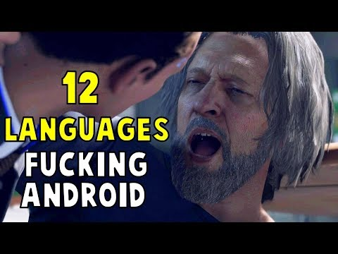 Drunk Hank Swearing in 12 Different Languages - Detroit Become Human