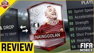 FIFA MOBILE 90 CF MIF NAINGGOLAN REVIEW | 90 CF MIF RADJA NAINGGOLAN PLAYER REVIEW & GAMEPLAY