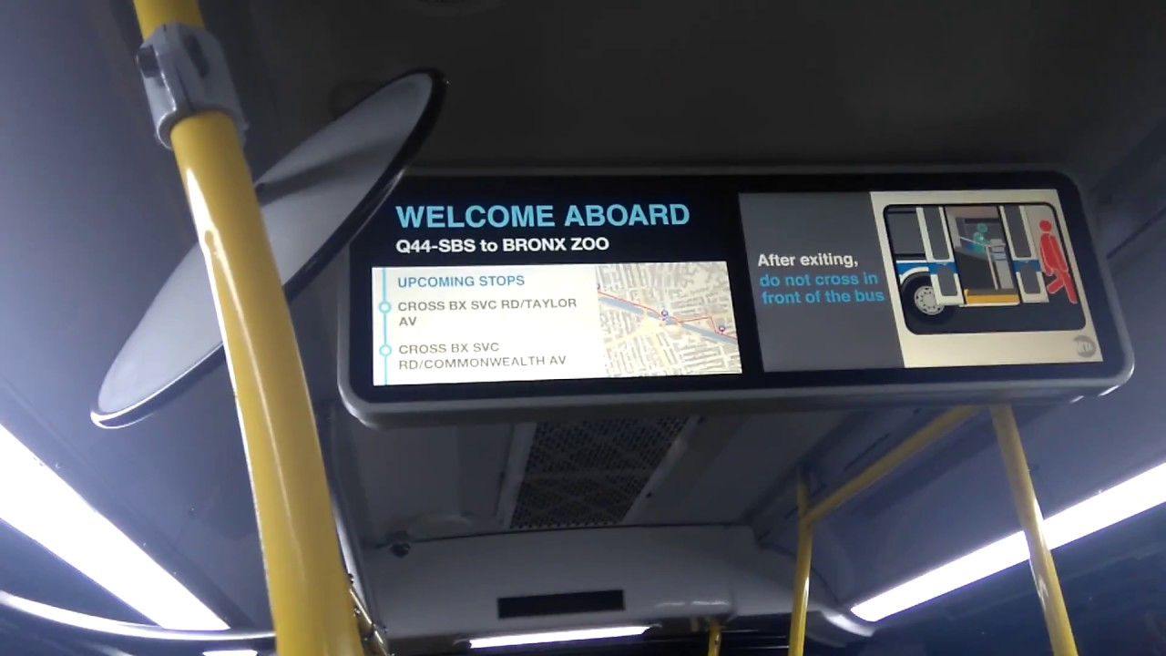 Onboard 2012 Novabus Lfsa 5909 On The Q44 Select Bus