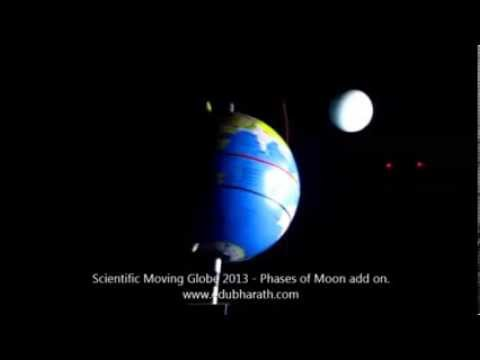 Scientific Moving Globe 2013 demonstrating Phases of Moon part 1