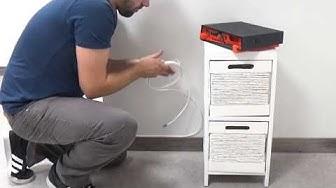 Installation câble fibre optique renforcé (4 mm) HQ pour Freebox Free - FOLAN - Cable-box-fibre.com