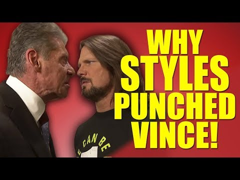Real Reasons Why AJ Styles Punched Vince McMahon In The Face! | WWE Smackdown Live