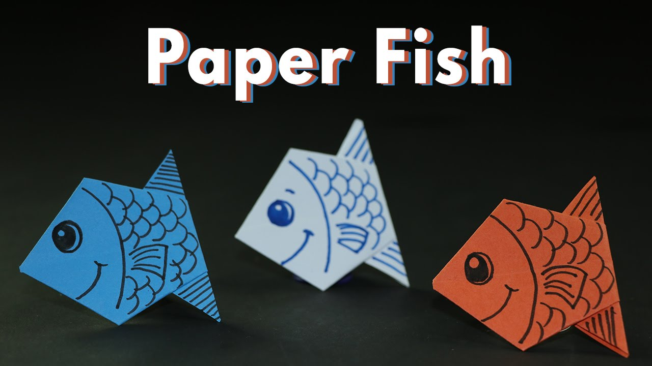 origami paper crafts ideas craft ideas origami paper fishes for simple 5053