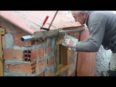 C mo hacer aristas horizontales con cemento r pido v deo - Como hacer una solera de hormigon ...