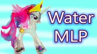 MLP Water Glitter Princess Celestia Rainbow Shimmer My Little Pony Review Cookieswirlc