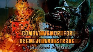 Fallout 4 - Combat Armors for DogMeat and Strong w/ Quest