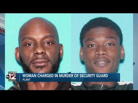 Woman charged in murder of Flint security guard