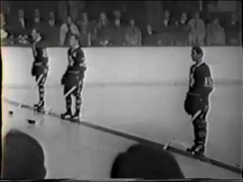 Leafs Bruins national anthem at Maple Leaf Gardens from 1968