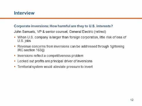 Corporate inversions: How harmful are they to U.S. interests?