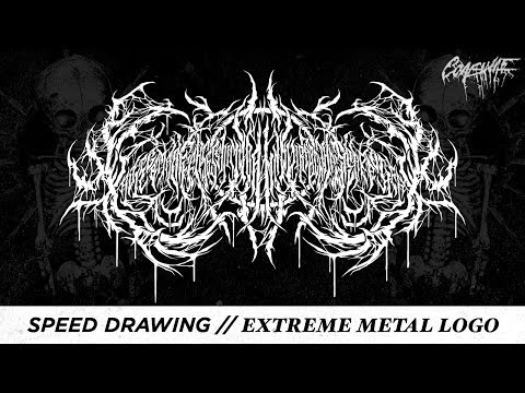 Speed Drawing // Extreme Metal Logo - XavlegbmaofffassssitimiwoamndutroabcwapwaeiippohfffX