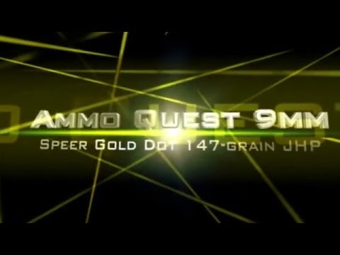 Ammo Quest 9mm: Gold Dot 147 grain test in ClearBallistics and ballistics gel