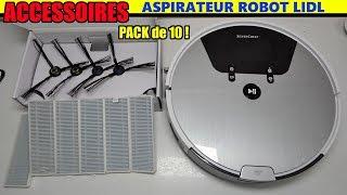 Aspirateur robot LIDL SILVERCREST SSRA1 Accessoires (filtre HEPA + brosses latérale)