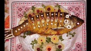 Толстолобик запечённый целиком / Товстолобик запечений в духовці / Рыбные блюда