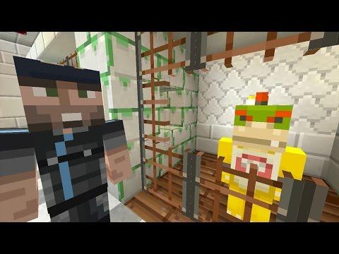 Minecraft Wii U - Nintendo Fun House - BOWSER JR GETS ARRESTED [59]