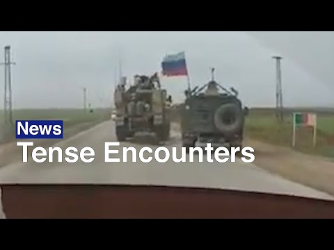 U.S.-Russian 'Road Rage' Incident Filmed In Syria | The Moscow Times