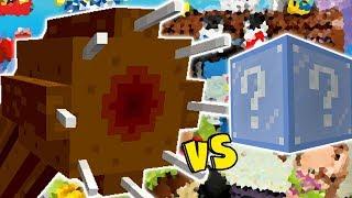 MINHOCA GIGANTE VS. LUCKY BLOCK FROZEN (MINECRAFT LUCKY BLOCK CHALLENGE GIANT WORM)