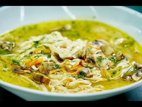 Супа с домашней лапшой