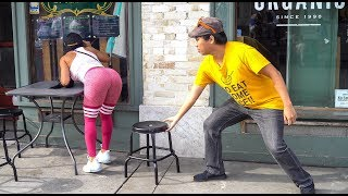 Chair Pulling Prank in Venice Beach 2!!!