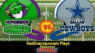 game 1 season opener of backyard football   dallas cowboys vs humongous melonheads