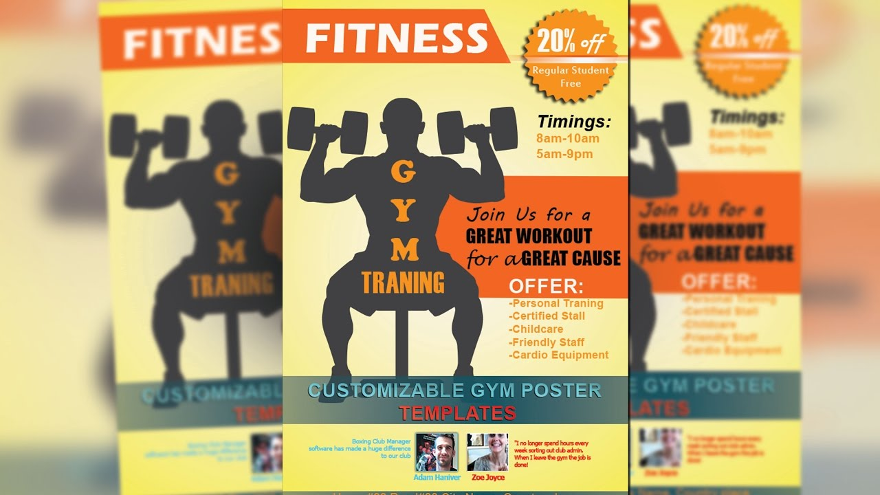 How To Create GYM Poster Design By Photoshop 2017