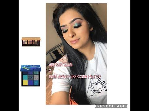 Anastasia Beverly Hills soft glam palette x Huda beauty sapphire palette thumbnail