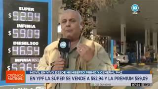 Aumento del 5% en combustibles de YPF