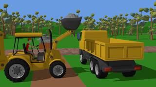 Excavator & bulldozer & truck - rubble removal | building tales for kids | Bajki Budowlane