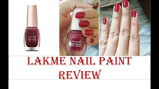 LAKME NAIL PAINT REVIEW HONEST REVIEW 100 PIGMENTED RIDDHI MISHRA