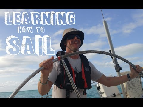 Learning how to sail in Antigua
