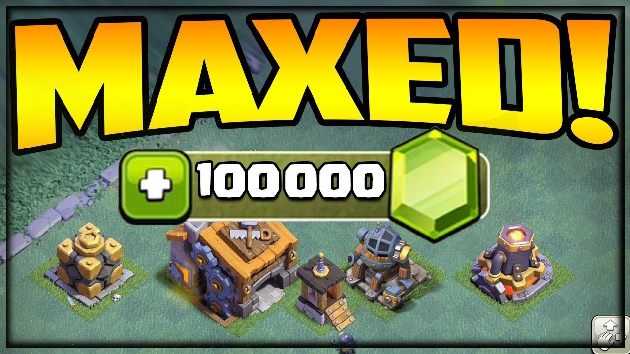 100,000 GEMS Builder Hall 9 Gem To MAX – BH9 Clash of Clans