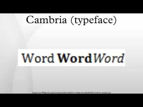 Cambria typeface
