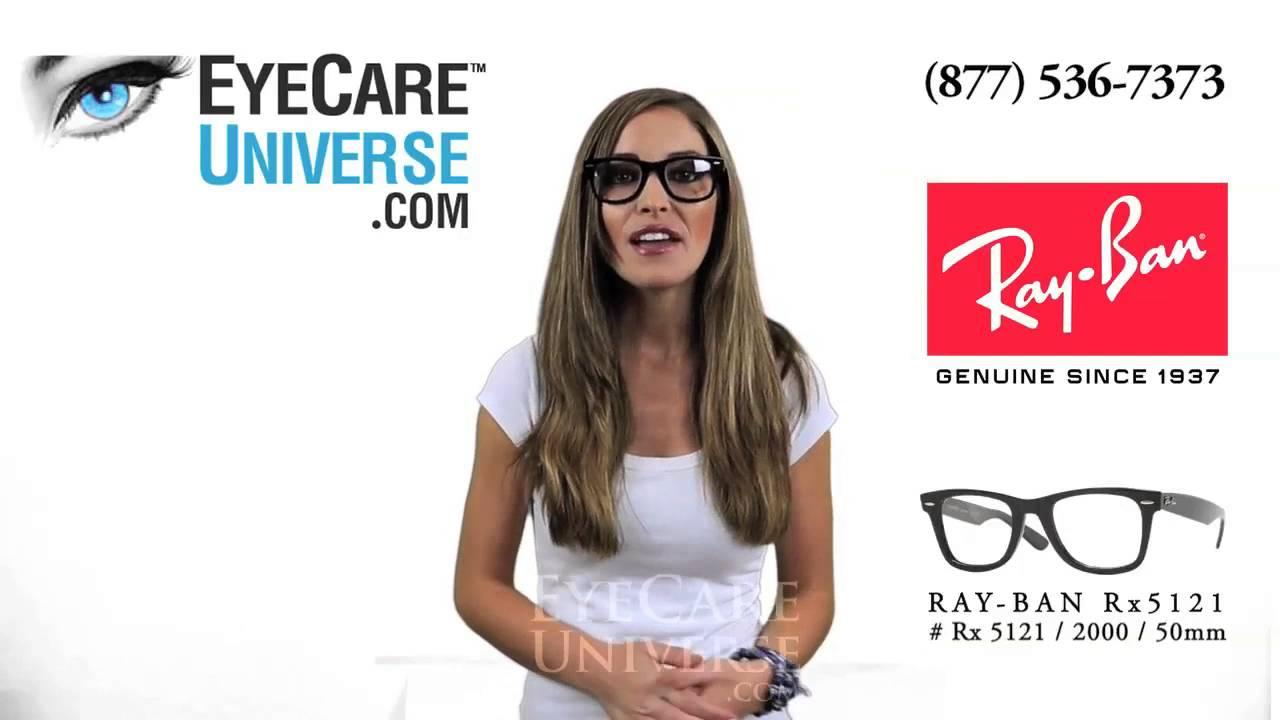 6822e89f3e Ray Ban Rx 5121 2000 Shiny Black 50mm Detailed Review - YouTube