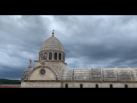 Eric Clark's Travel Videos - Sibenik Croatia - Scary stairs to the BEST view of St. James Cathedral.