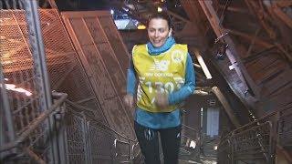 Вертикальный забег в Париже: 129 спортсменов на Эйфелевой башне
