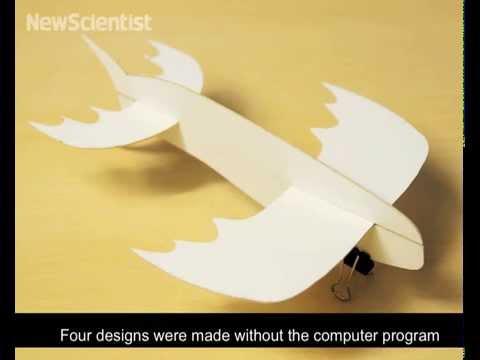 Paper plane program makes crazy designs fly