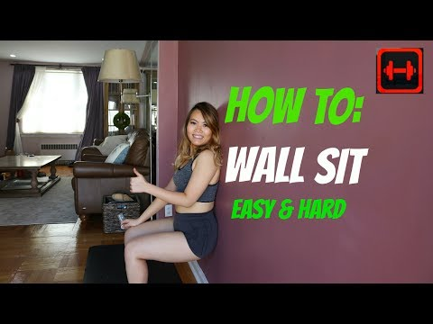 How to Wall Sit | Wall Sit Exercise