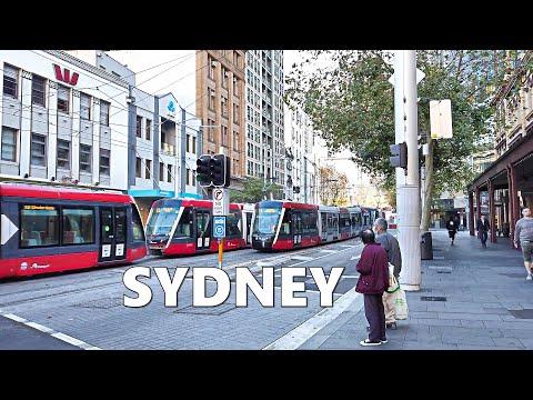 Walking From SYDNEY CENTRAL STATION Platform 21 To CAPITOL SQUARE Computer Centre, Sydney Australia